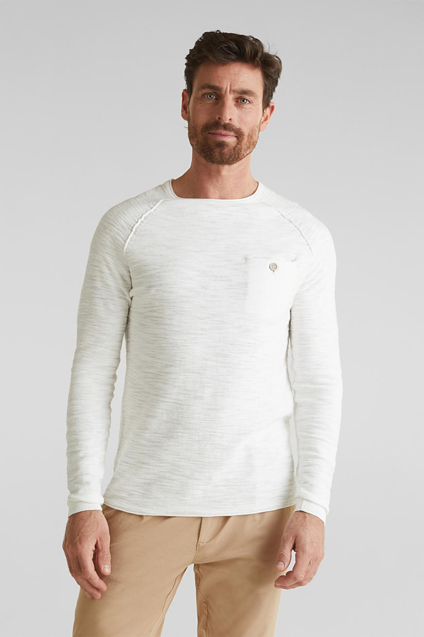Jumper with a pocket, 100% cotton