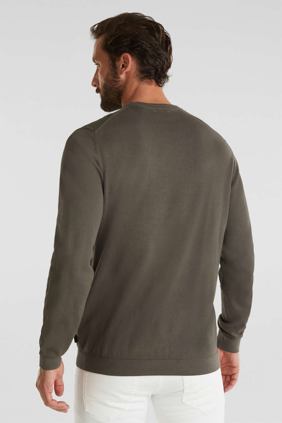 EarthColors®: cotton jumper, DARK KHAKI, detail image number 3