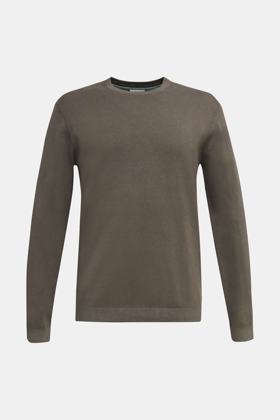 EarthColors®: cotton jumper, DARK KHAKI, detail image number 6