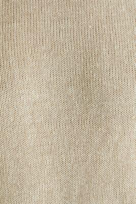 100% linen: knit jumper, LIGHT BEIGE, detail