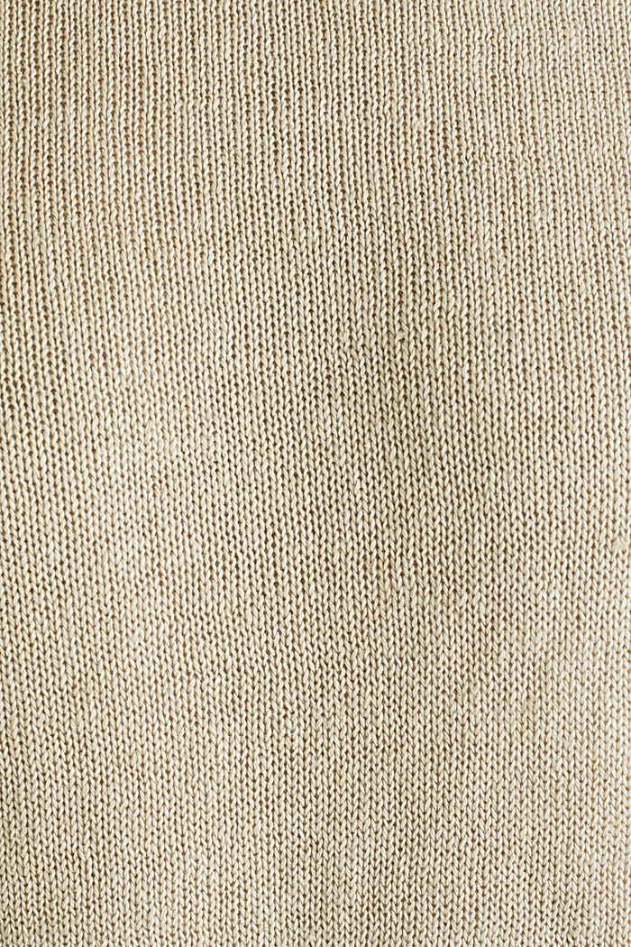 100% linen: knit jumper, LIGHT BEIGE, detail image number 4