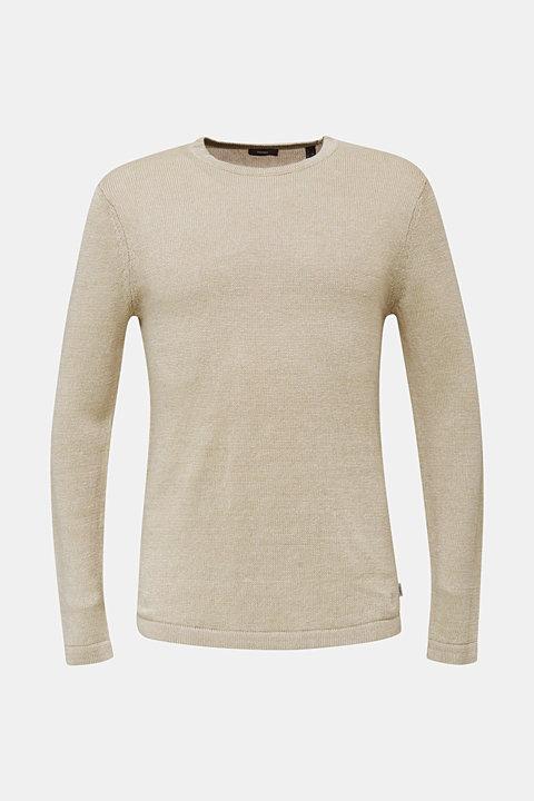 100% linen: knit jumper