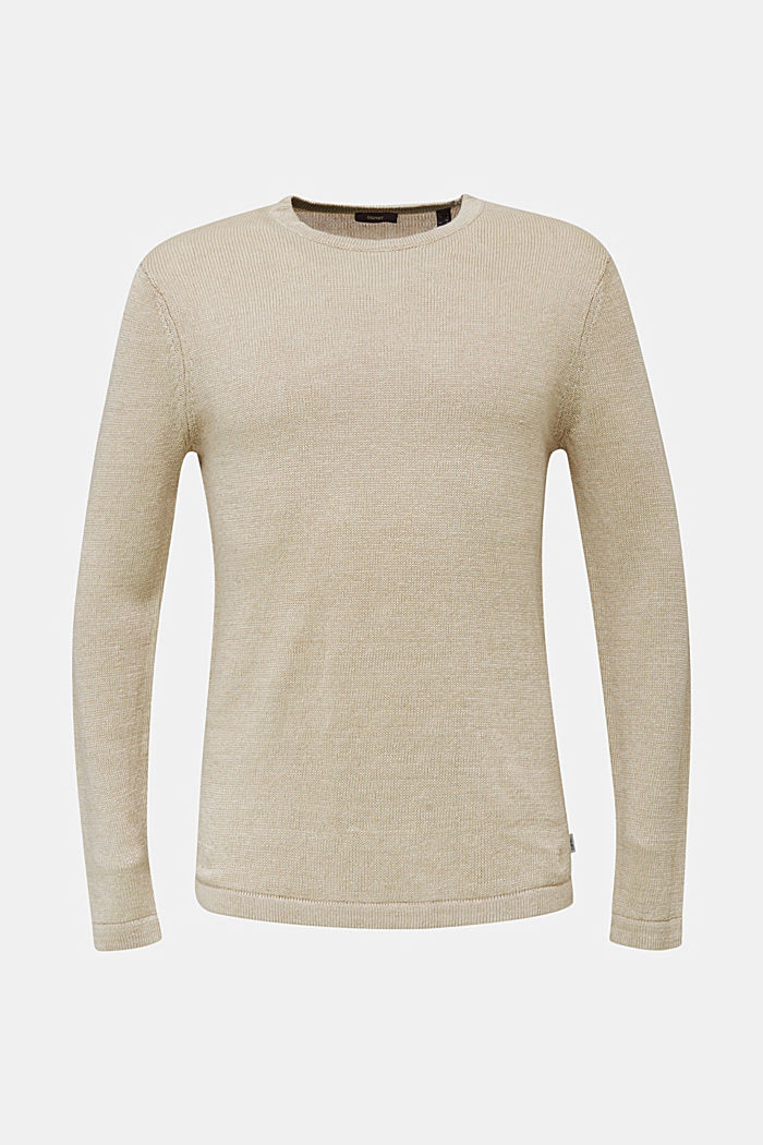 100% linen: knit jumper, LIGHT BEIGE, detail image number 6