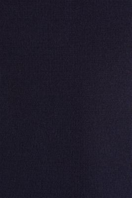 Polo jumper, 100% organic cotton, NAVY, detail