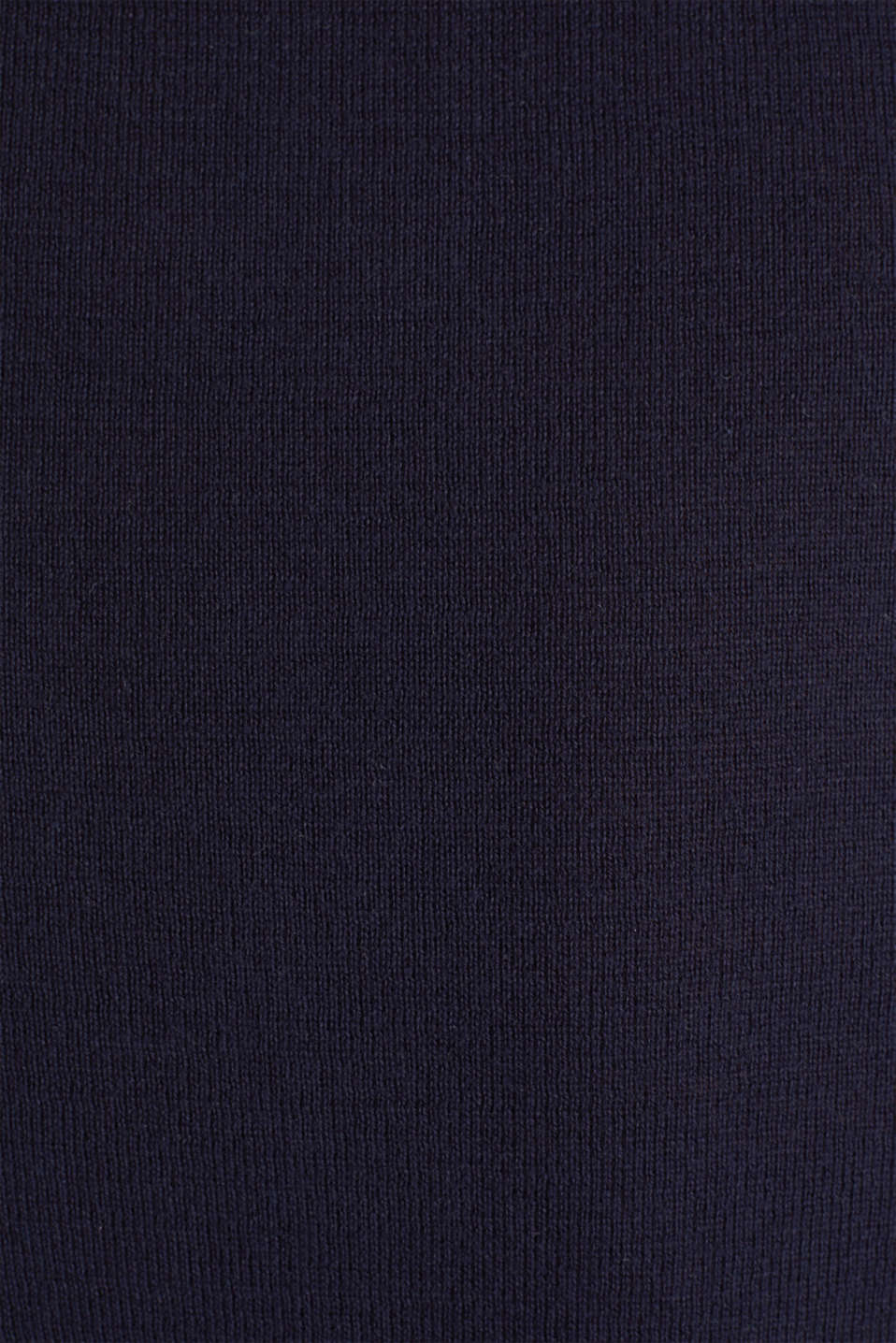 Polo jumper, 100% organic cotton, NAVY, detail image number 4