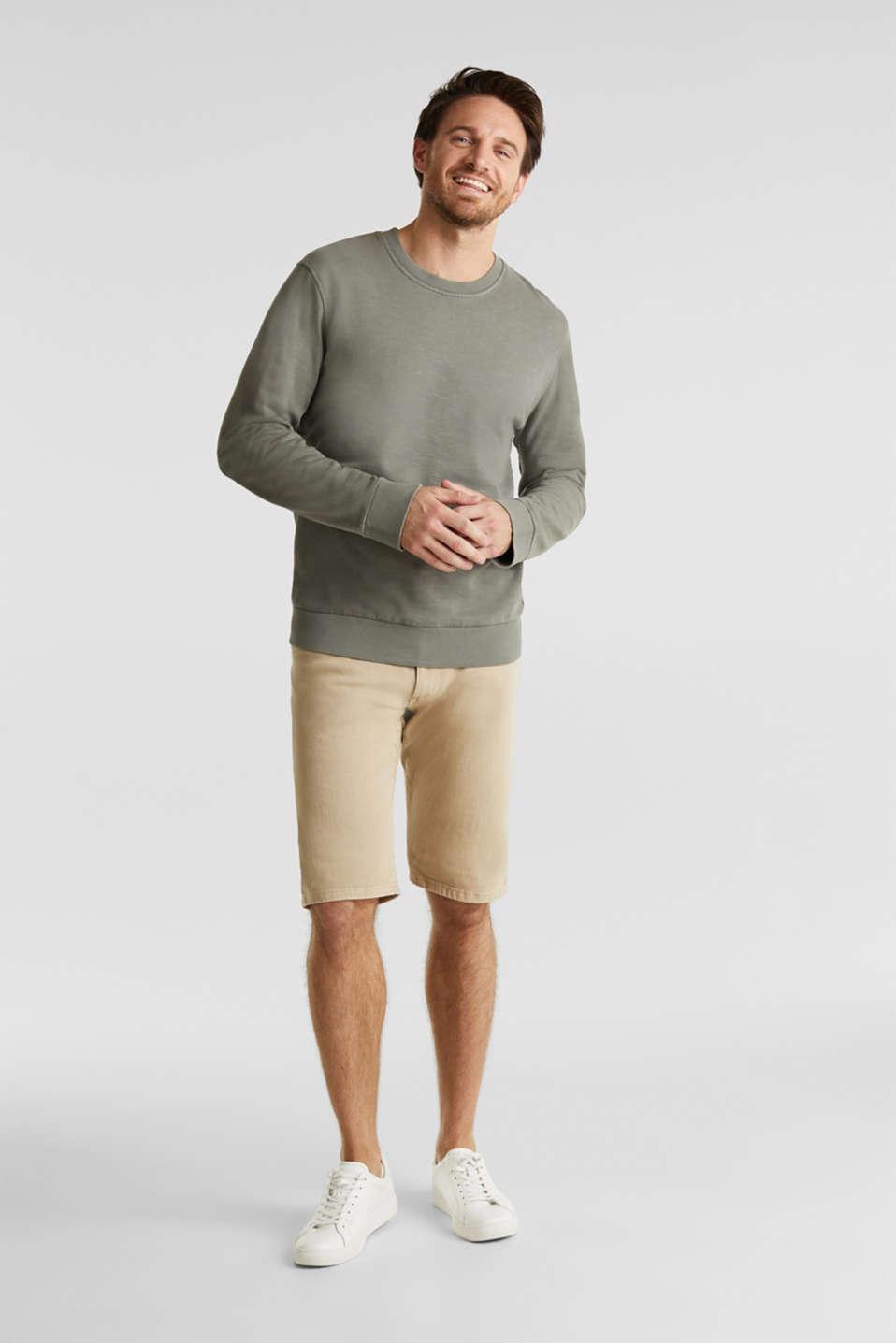 EarthColors®: cotton sweatshirt, DARK KHAKI 2, detail image number 1