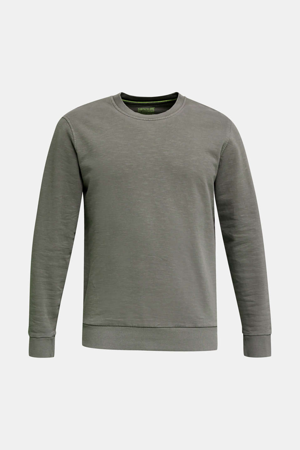 EarthColors®: cotton sweatshirt, DARK KHAKI 2, detail image number 7
