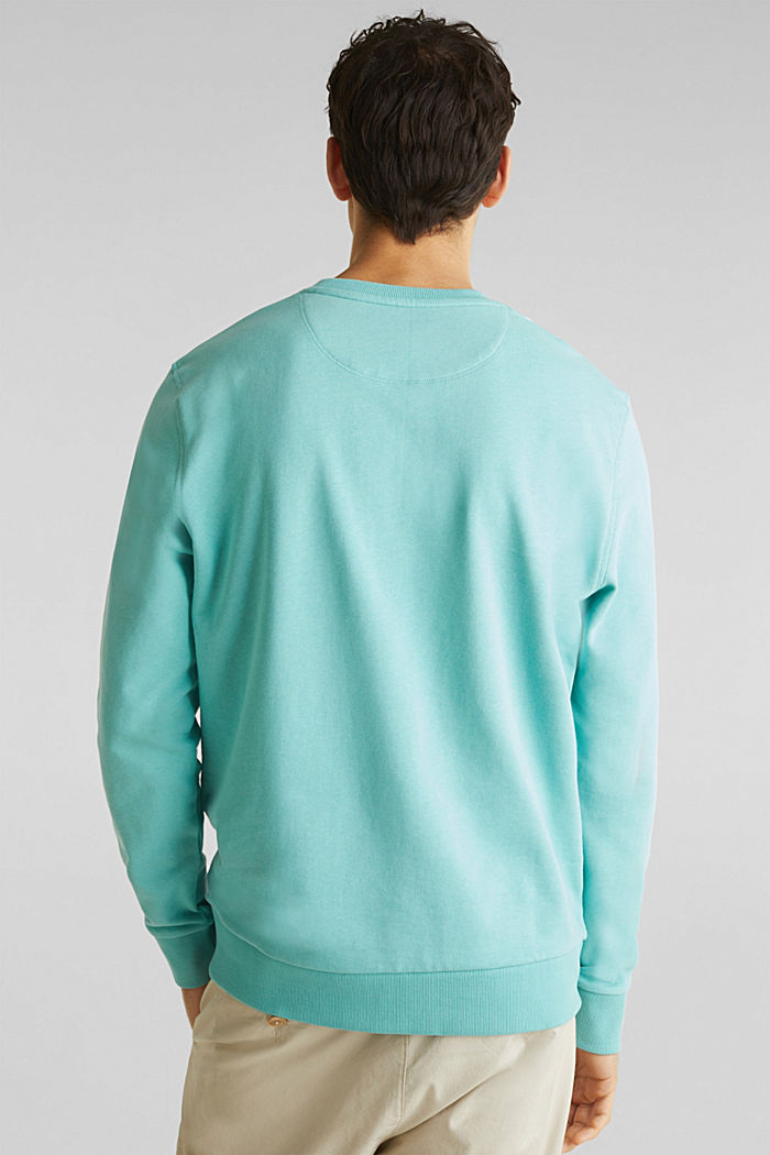 Sweatshirt mit Paisley-Print, 100% Baumwolle, DUSTY GREEN, detail image number 3