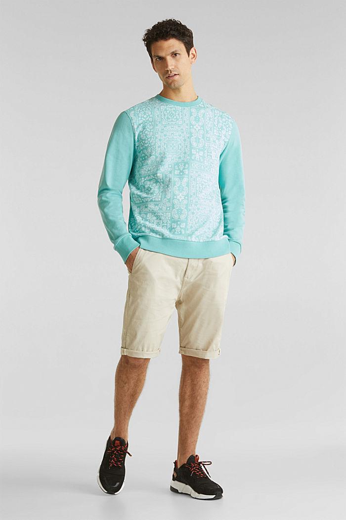 Sweatshirt mit Paisley-Print, 100% Baumwolle, DUSTY GREEN, detail image number 1