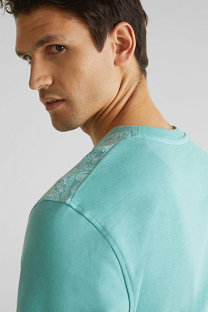 Sweatshirt mit Paisley-Print, 100% Baumwolle, DUSTY GREEN, detail image number 2