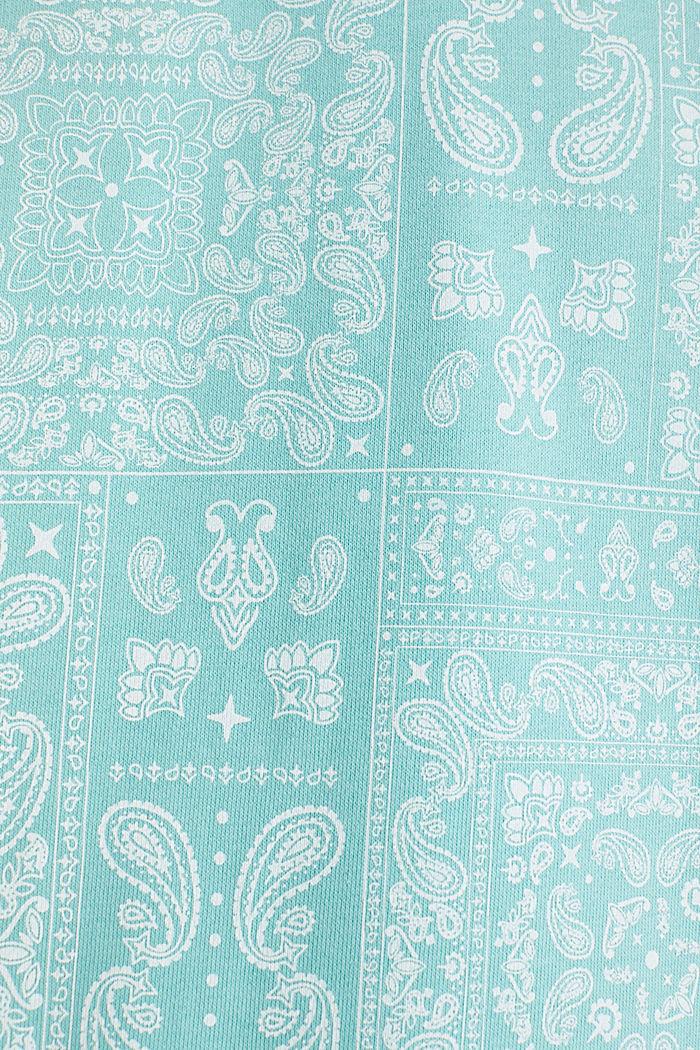 Sweatshirt mit Paisley-Print, 100% Baumwolle, DUSTY GREEN, detail image number 5