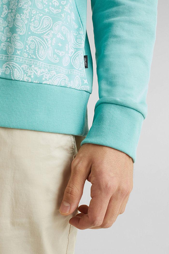 Sweatshirt mit Paisley-Print, 100% Baumwolle, DUSTY GREEN, detail image number 6