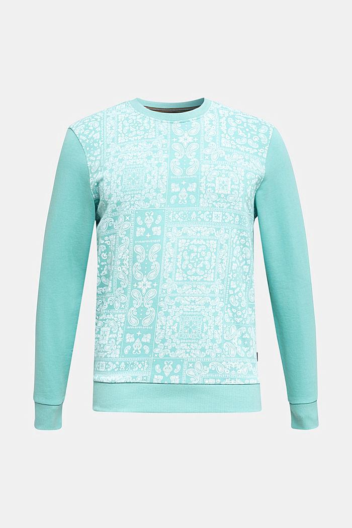Sweatshirt met paisleyprint, 100% katoen