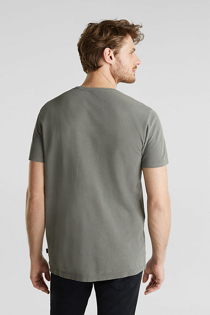 EarthColors®: Piqué-Shirt, DARK KHAKI, detail image number 3