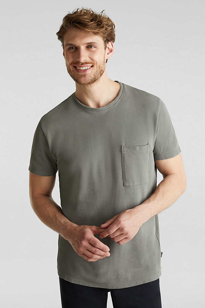 EarthColors®: Piqué-Shirt, DARK KHAKI, detail image number 4