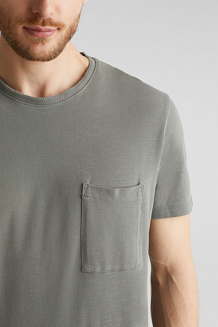 EarthColors®: Piqué-Shirt, DARK KHAKI, detail image number 1