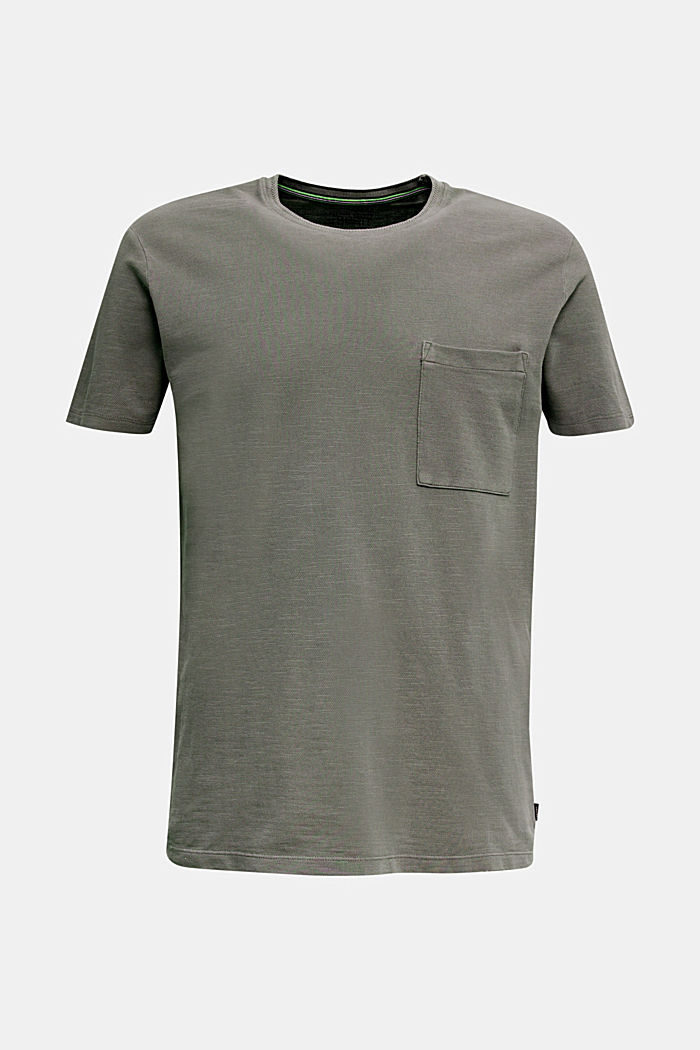 EarthColors®: Piqué-Shirt, DARK KHAKI, detail image number 8