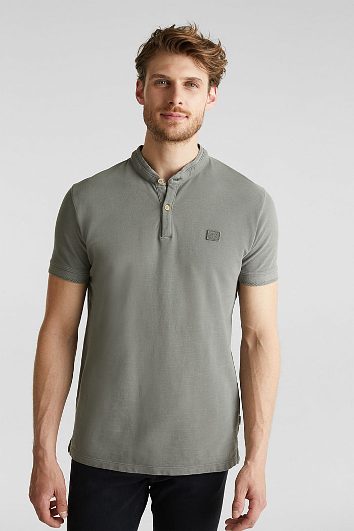 EarthColors®: piqué polo shirt, DARK KHAKI, detail image number 0