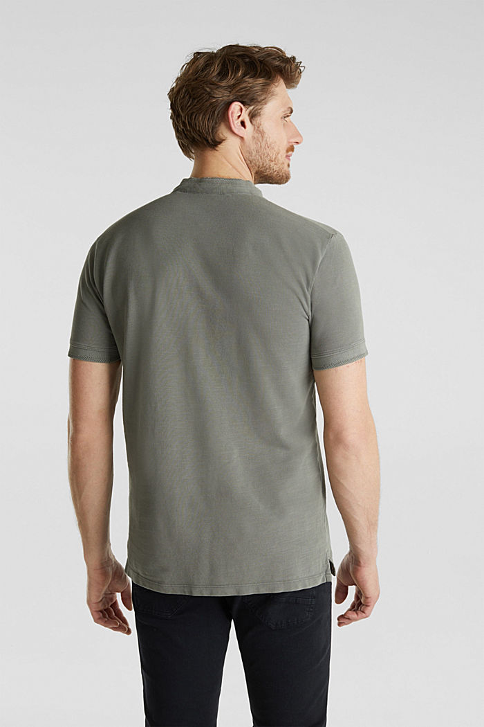 EarthColors®: Piqué-Poloshirt, DARK KHAKI, detail image number 3