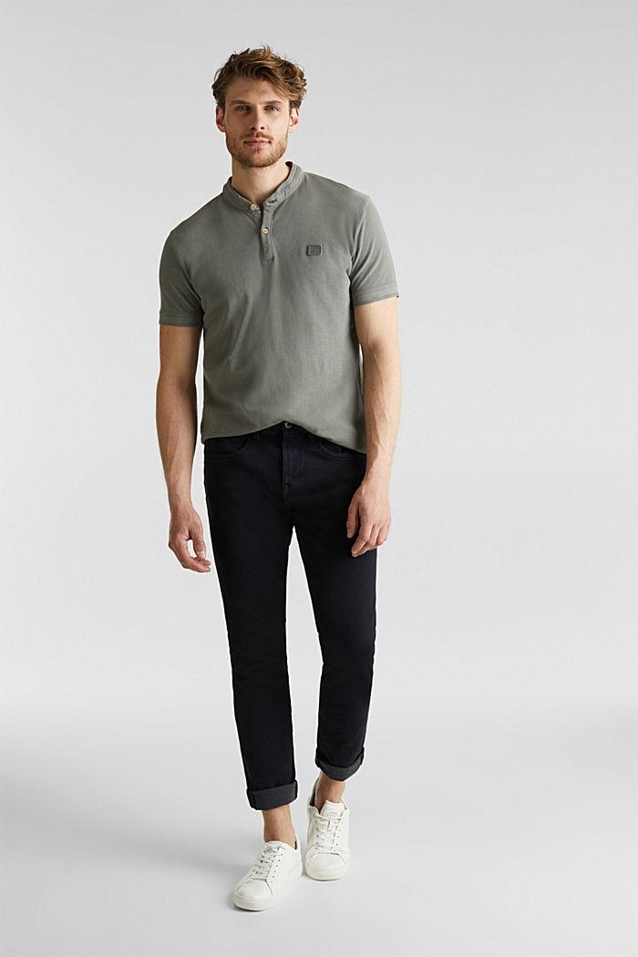 EarthColors®: Piqué-Poloshirt, DARK KHAKI, detail image number 2