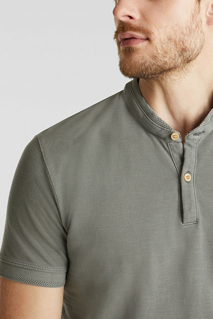 EarthColors®: Piqué-Poloshirt, DARK KHAKI, detail image number 1