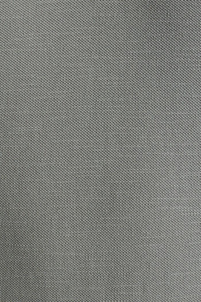 EarthColors®: Piqué-Poloshirt, DARK KHAKI, detail image number 4