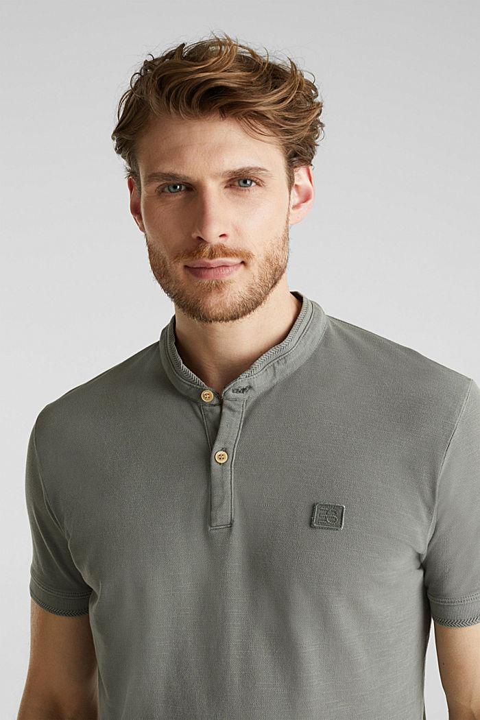 EarthColors®: Piqué-Poloshirt, DARK KHAKI, detail image number 5