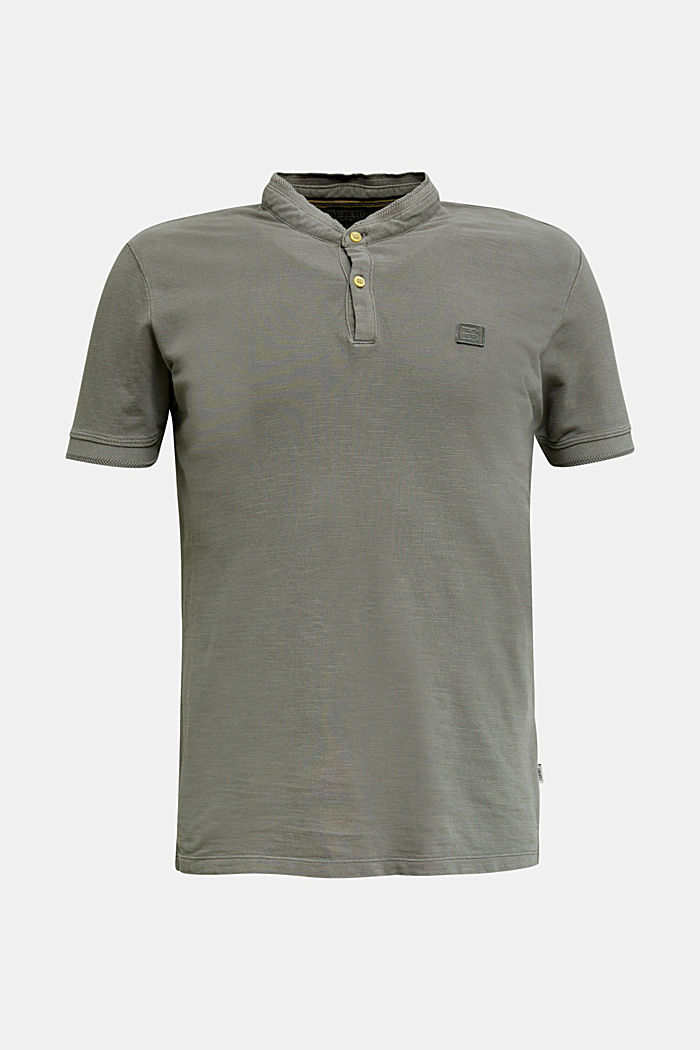 EarthColors®: piqué polo shirt, DARK KHAKI, overview