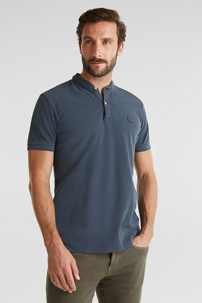 EarthColors®: piqué polo shirt, NAVY, detail image number 0
