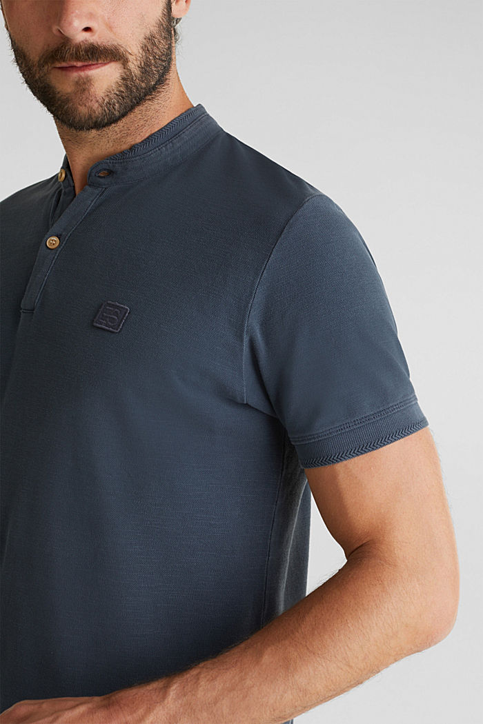 EarthColors®: piqué polo shirt, NAVY, detail image number 1