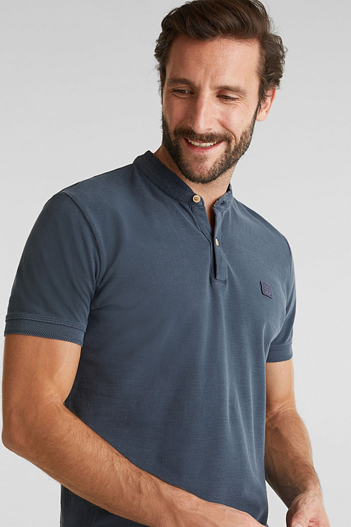 EarthColors®: piqué polo shirt, NAVY, detail image number 6