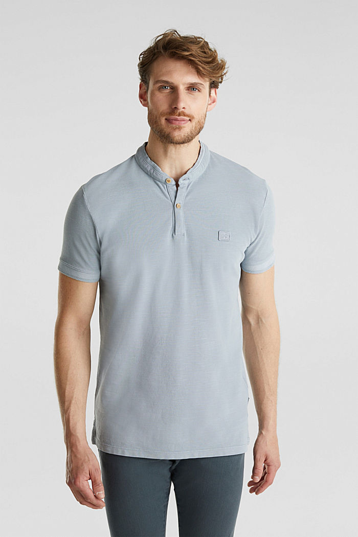 EarthColors®: piqué polo shirt, PASTEL BLUE, detail image number 0