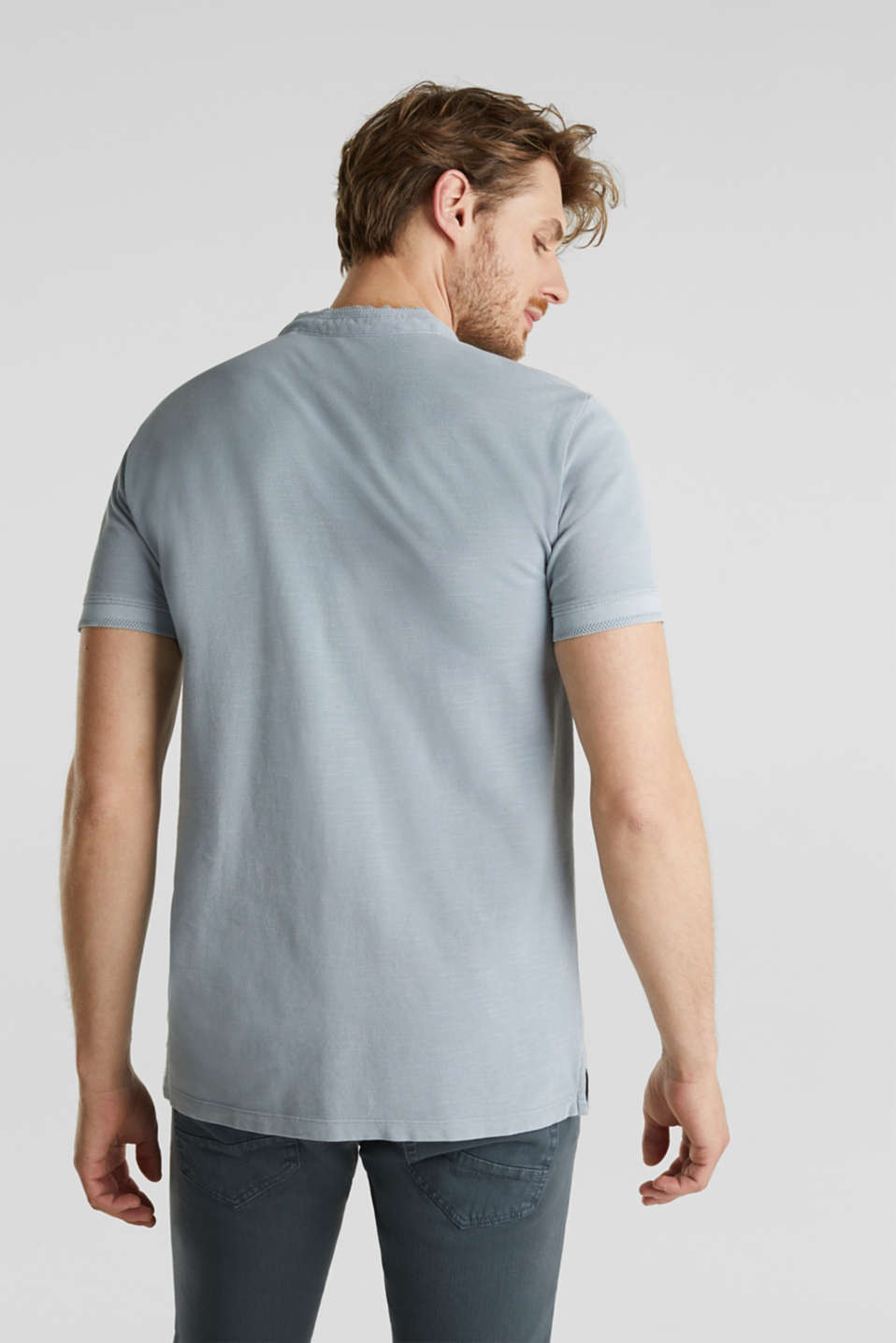 EarthColors®: piqué polo shirt, PASTEL BLUE 2, detail image number 3