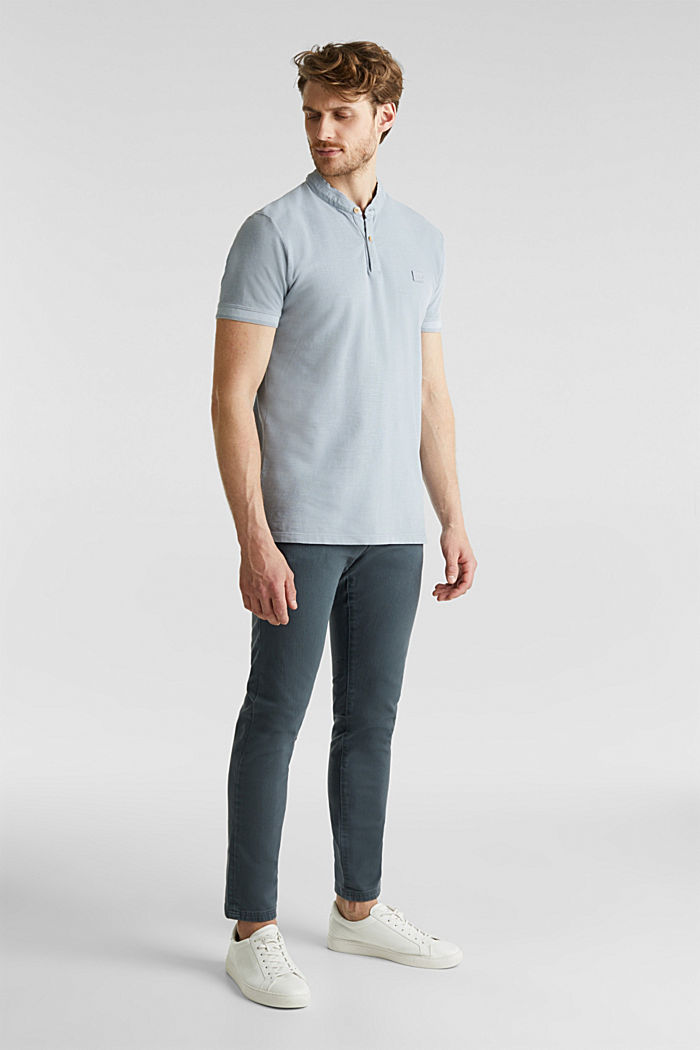 EarthColors®: piqué polo shirt, PASTEL BLUE, detail image number 2