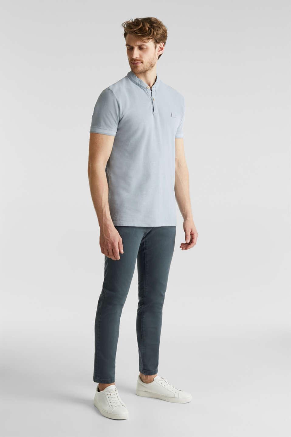 EarthColors®: piqué polo shirt, PASTEL BLUE 2, detail image number 2