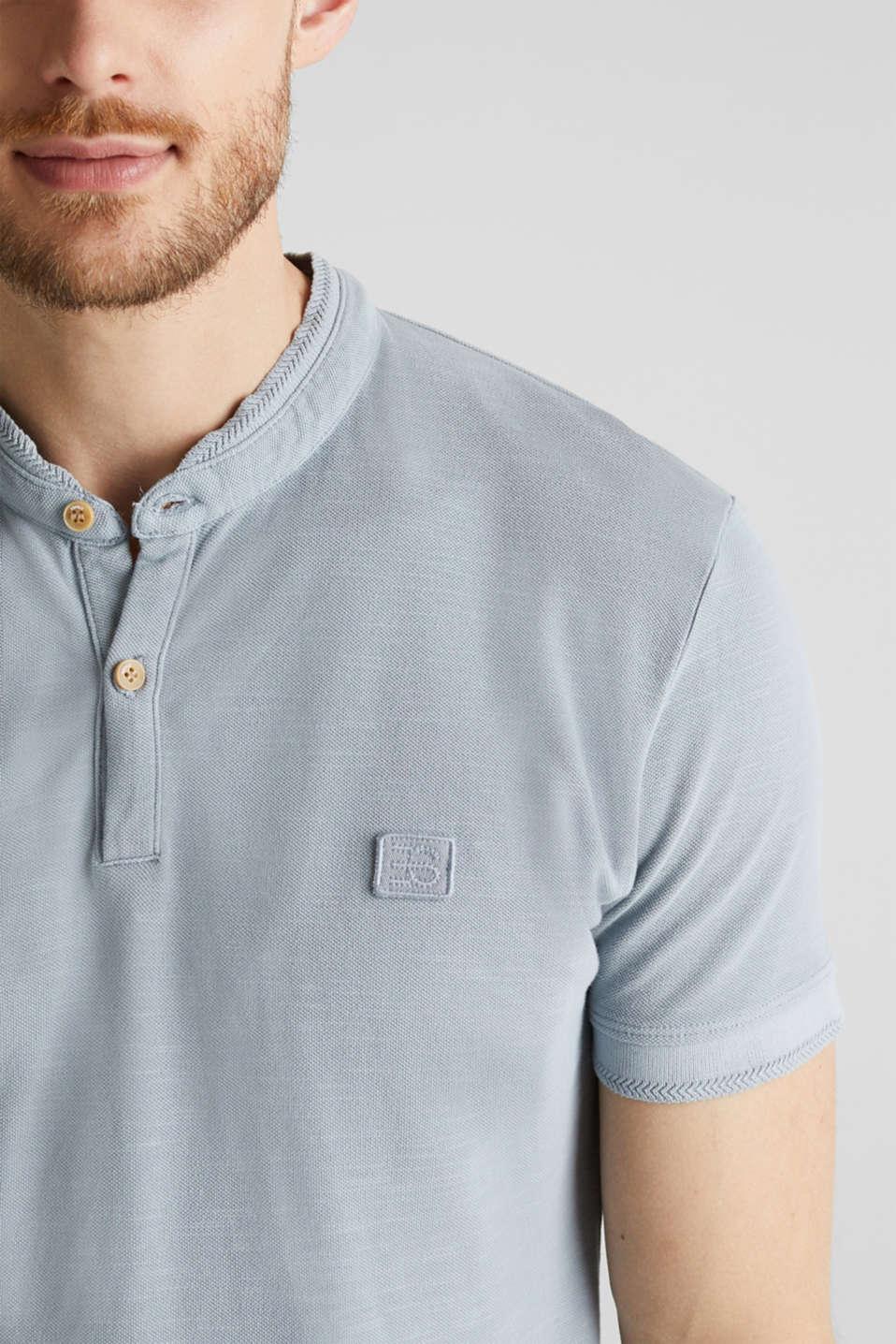 EarthColors®: piqué polo shirt, PASTEL BLUE 2, detail image number 1