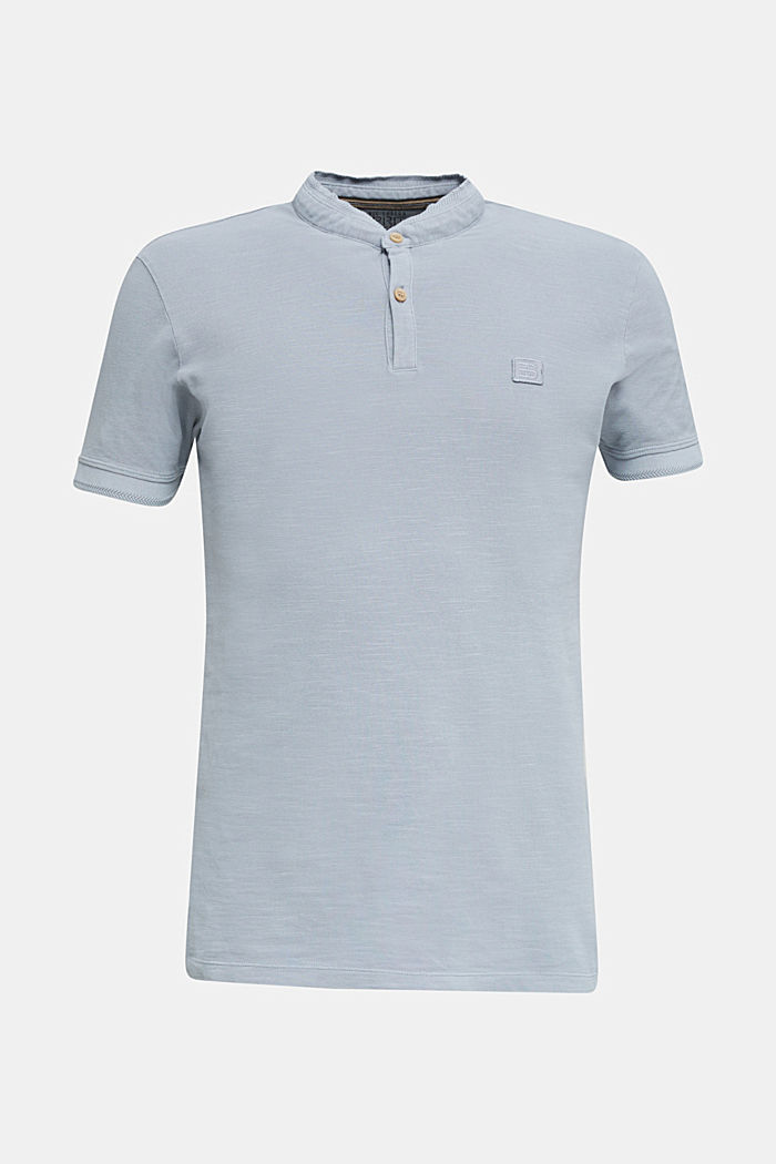 EarthColors®: Piqué-Poloshirt, PASTEL BLUE, overview