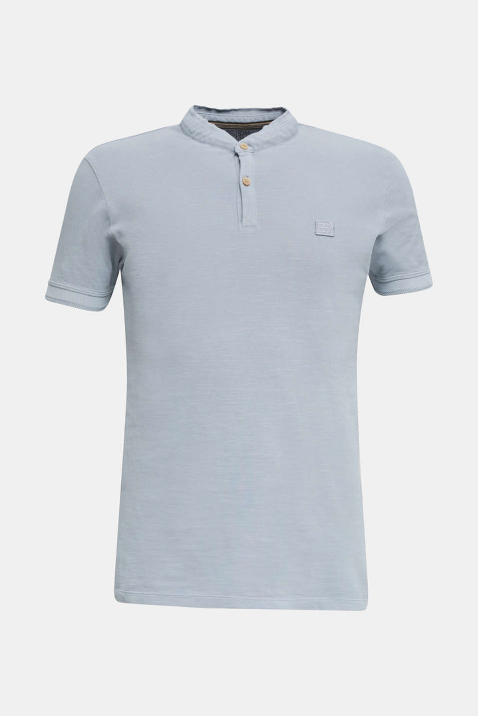 EarthColors®: piqué polo shirt, PASTEL BLUE 2, detail image number 7