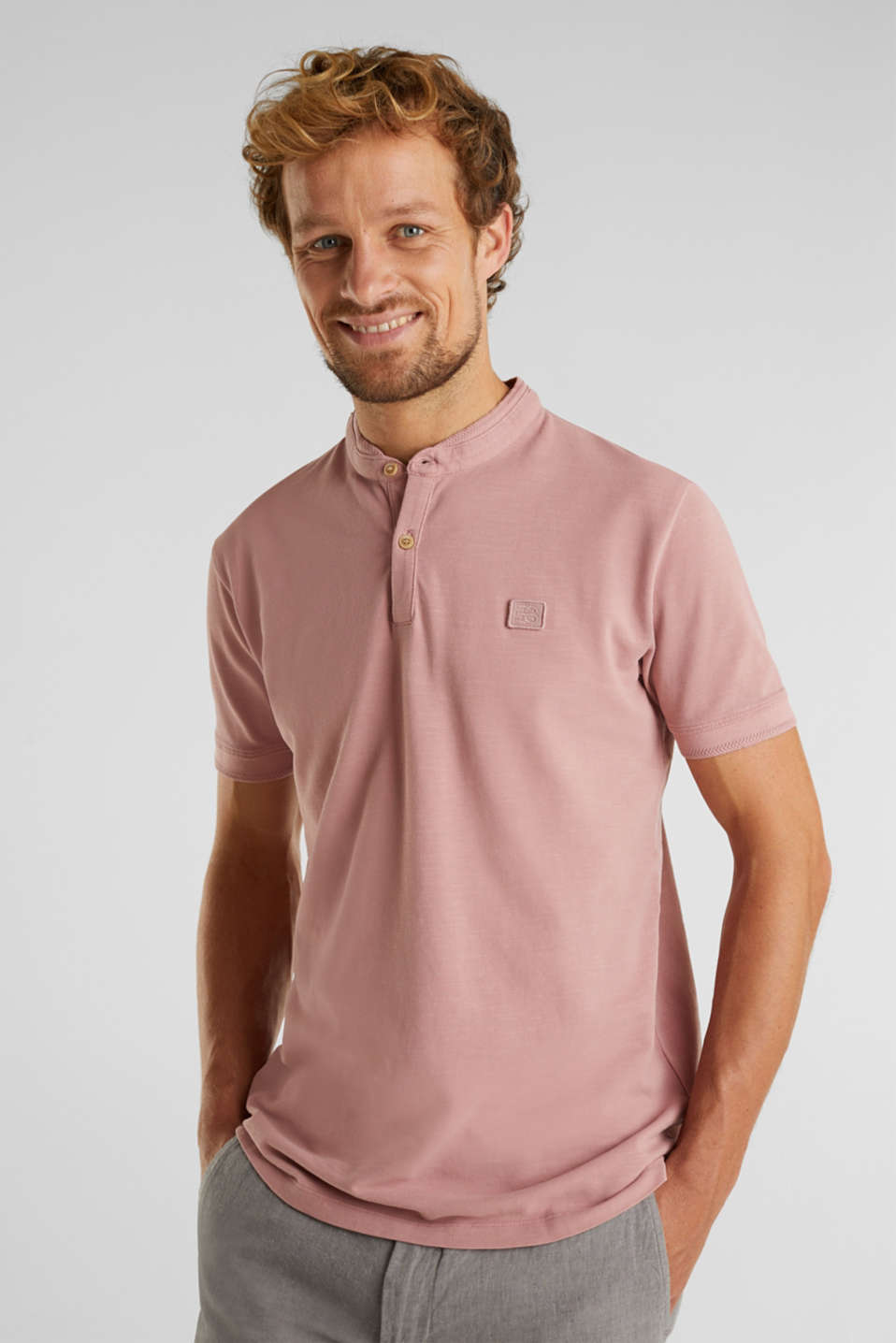 EarthColors®: piqué polo shirt, BLUSH, detail image number 0
