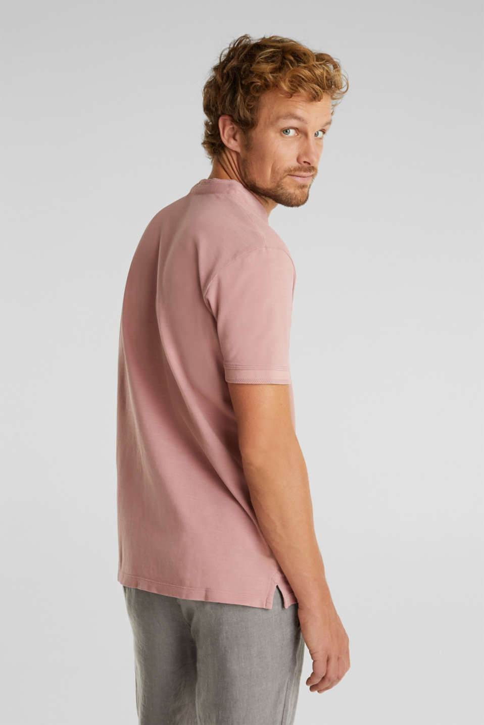 EarthColors®: piqué polo shirt, BLUSH, detail image number 3