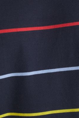 Striped piqué T-shirt, 100% cotton, NAVY 3, detail