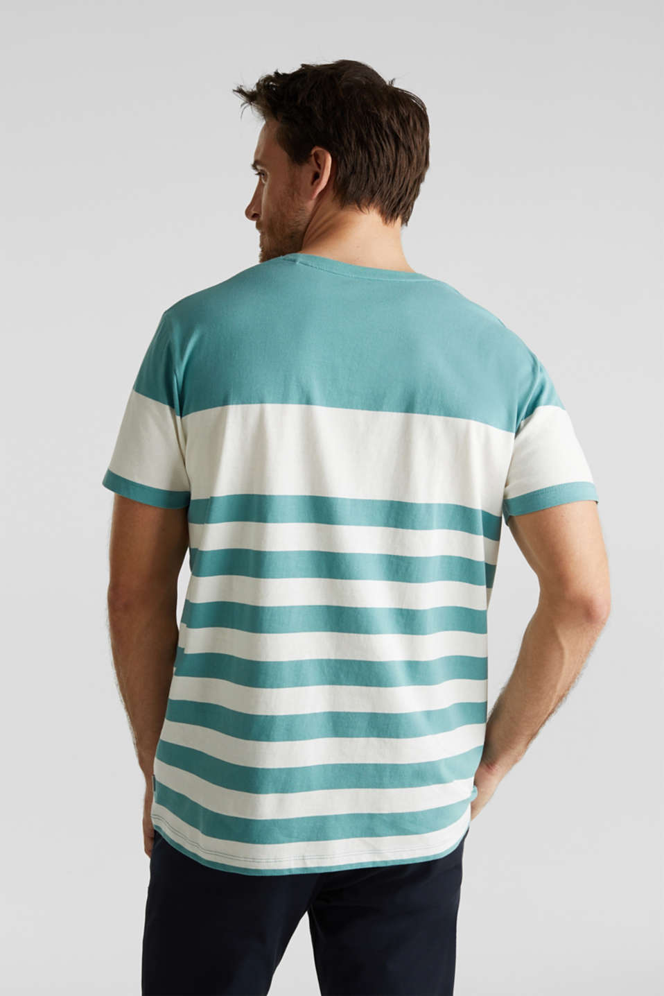 Jersey T-shirt in 100% cotton, TEAL GREEN 3, detail image number 3