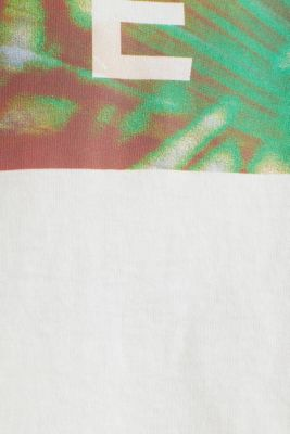 Jersey T-shirt with a print, 100% cotton, OFF WHITE, detail