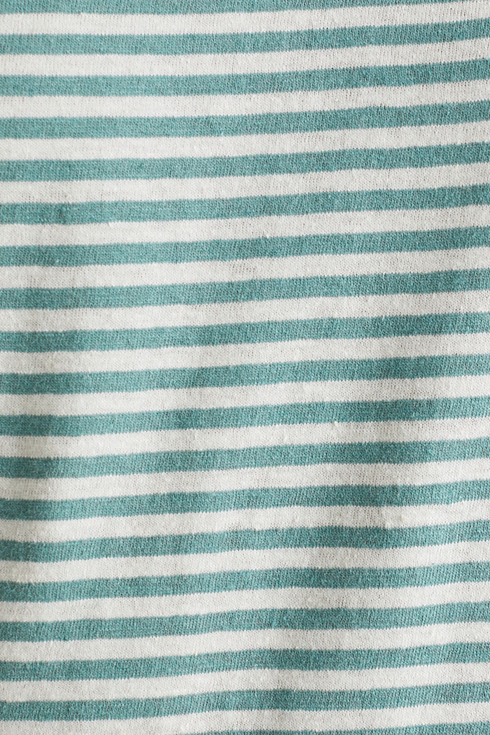 With linen: Jersey top with a pocket, TEAL GREEN, detail image number 5