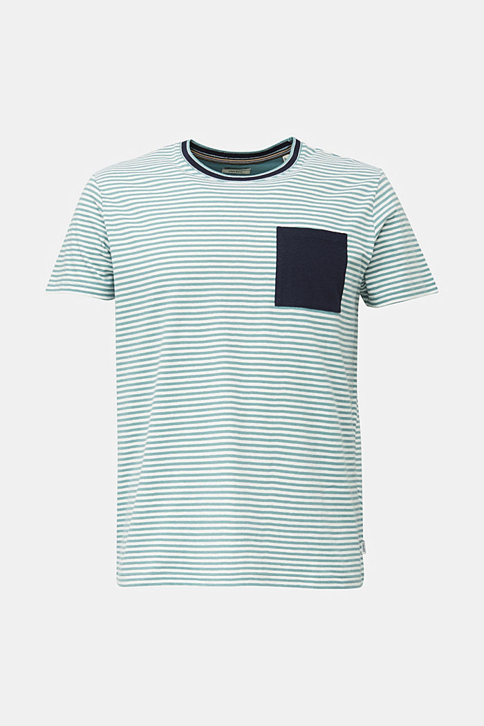 With linen: Jersey top with a pocket, TEAL GREEN, detail image number 7