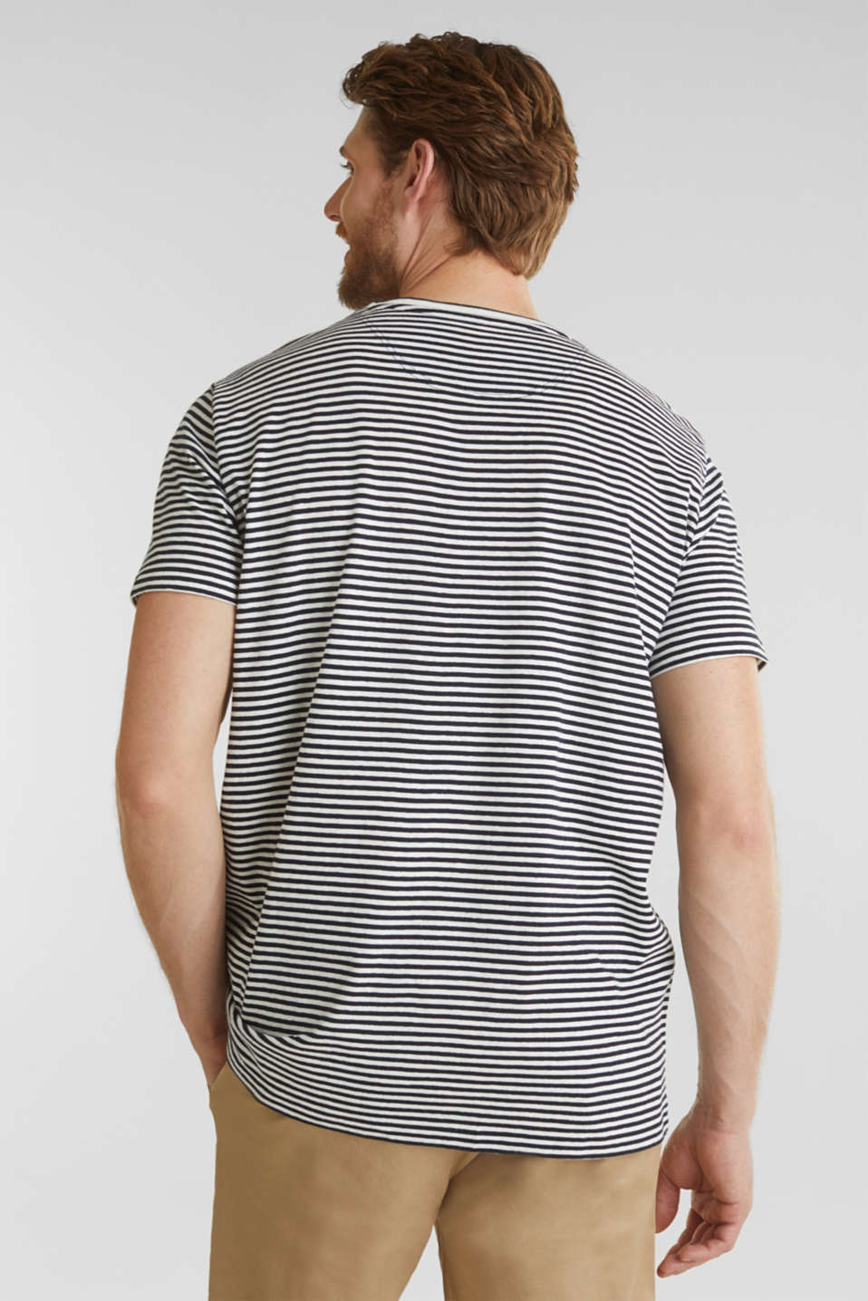 With linen: Jersey top with a pocket, NAVY 3, detail image number 2
