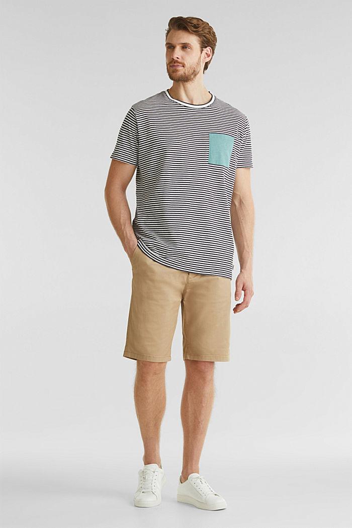 Met linnen: jersey shirt met zak, NAVY, detail image number 1