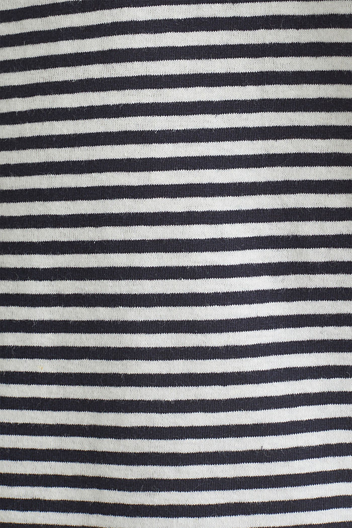 With linen: Jersey top with a pocket, NAVY, detail image number 4