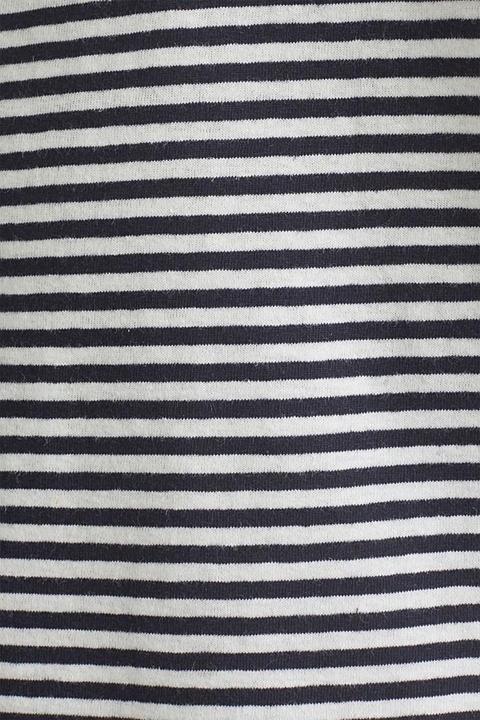 Met linnen: jersey shirt met zak, NAVY, detail image number 4