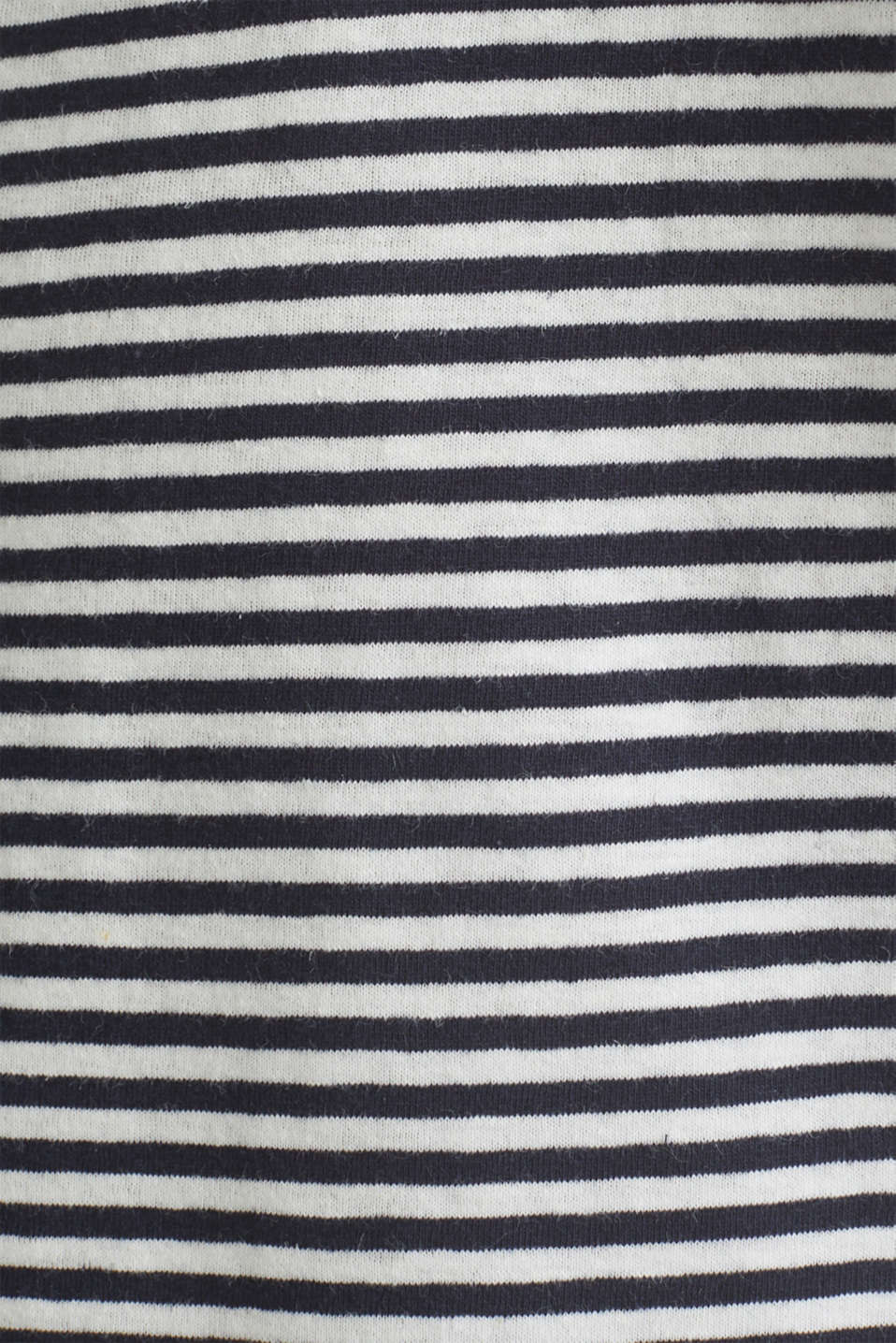 With linen: Jersey top with a pocket, NAVY 3, detail image number 4
